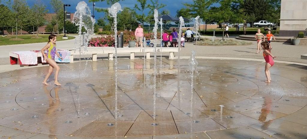 Oakland University Elliott Tower Fountain