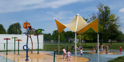 Flodin Park in Canton and Splash Pad