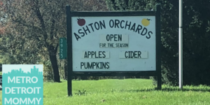 Ashton Orchards Cider Mill in Ortonville, Michigan