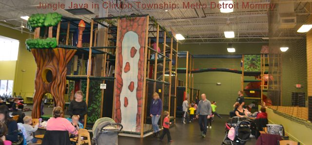 Jungle Java in Clinton Township play structure