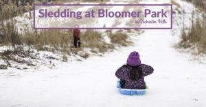 Bloomer Park Sledding Hill in Rochester Hills