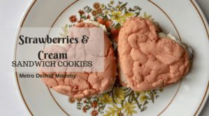 Try out this yummy strawberries and cream sandwich cookie recipe
