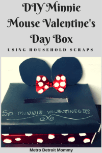 Recreate this Mnnie Mouse Valentine's Day Card Box using household scraps!