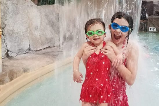 Rosa and Naomi enjoying the waterpark.