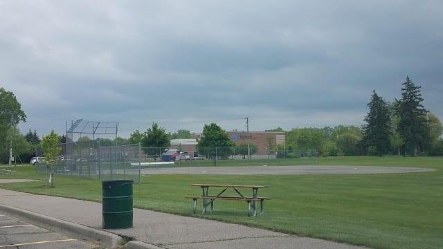 baseball diamond at Raintree Park in Troy