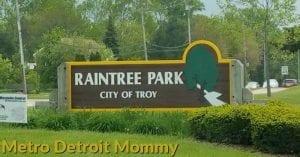 Raintree Park in Troy