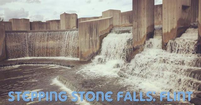 Wondrous Man-made Waterfalls in Flint – Stepping Stone Falls
