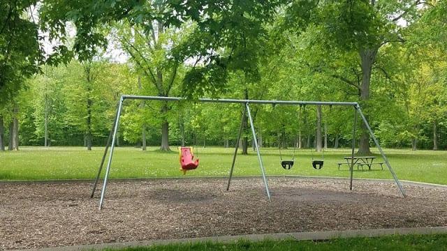 swings at Raintree Park