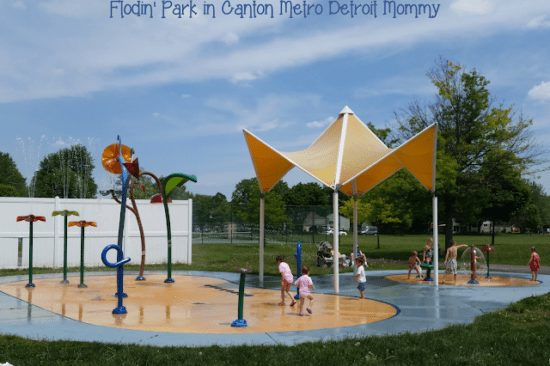 Flodin Park Splash Pad in Canton
