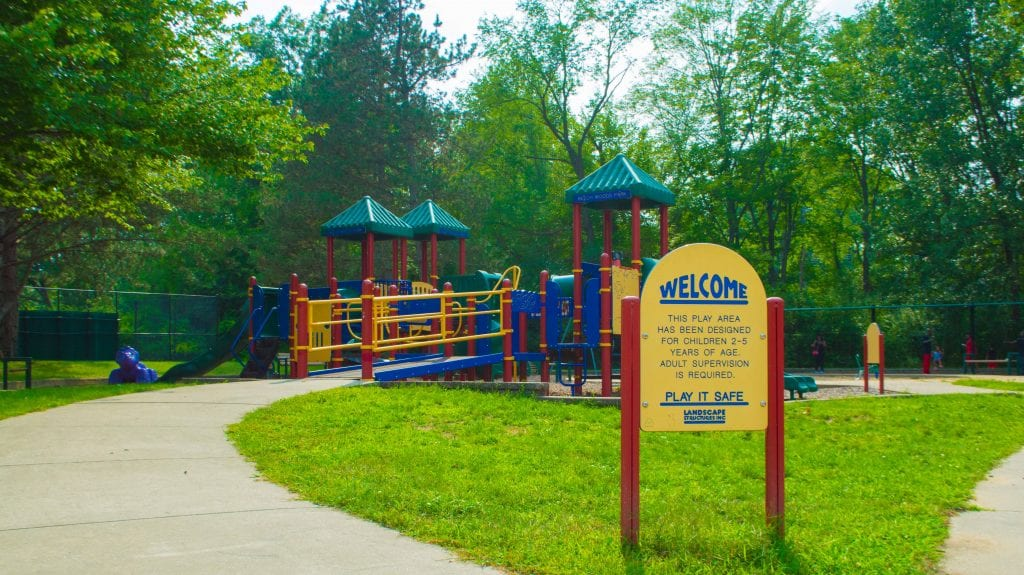 playground at Beech Woods Park in Southfield