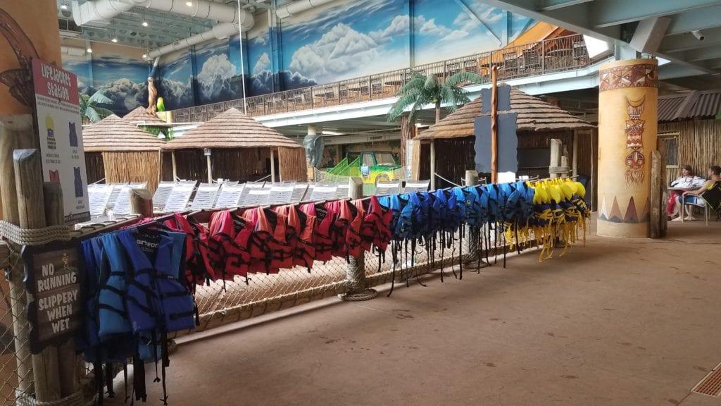 They provide use of life jackets for FREE at Kalahari Sandusky.
