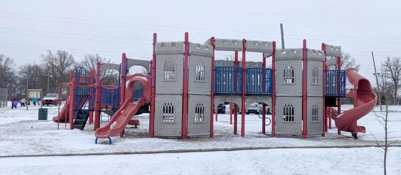 When you are done at the woodhaven sledding hill check out the Civic Center Playground