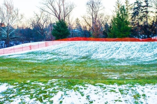 Sledding Hill at Booth Park in Birmingham – Perfect for Younger Children