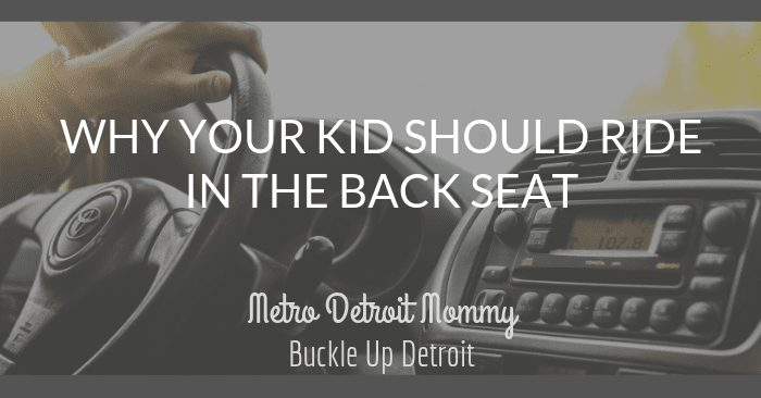 Why Your Kid Should Ride In The Back Seat