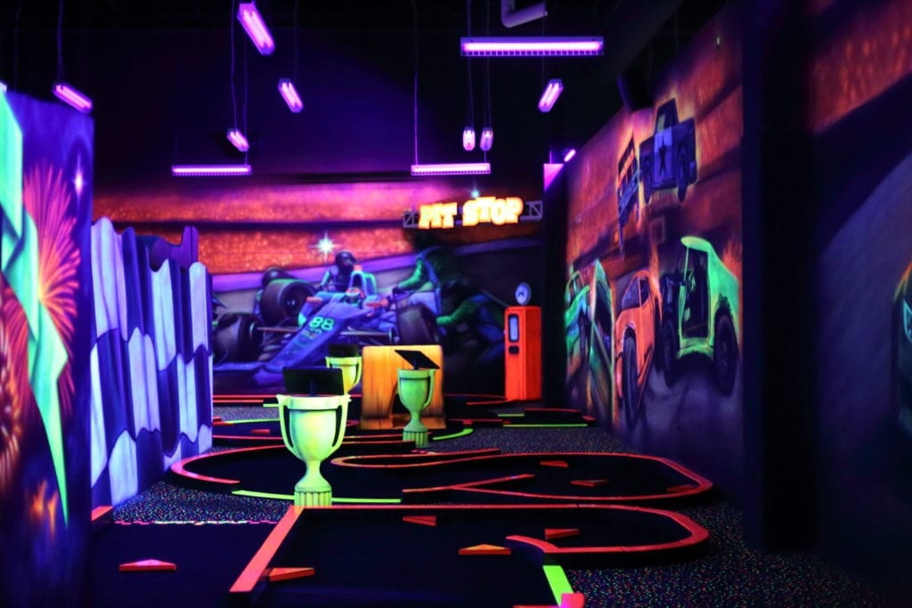Black Light Indoor Mini Golf Allegiant Nonstop Warren