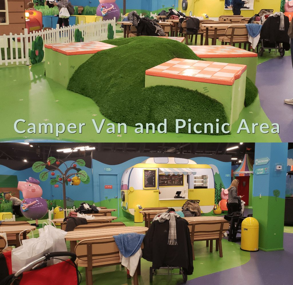 Peppa Pig World of Play Great Lakes Crossing Outlet Camper Van and Picnic area