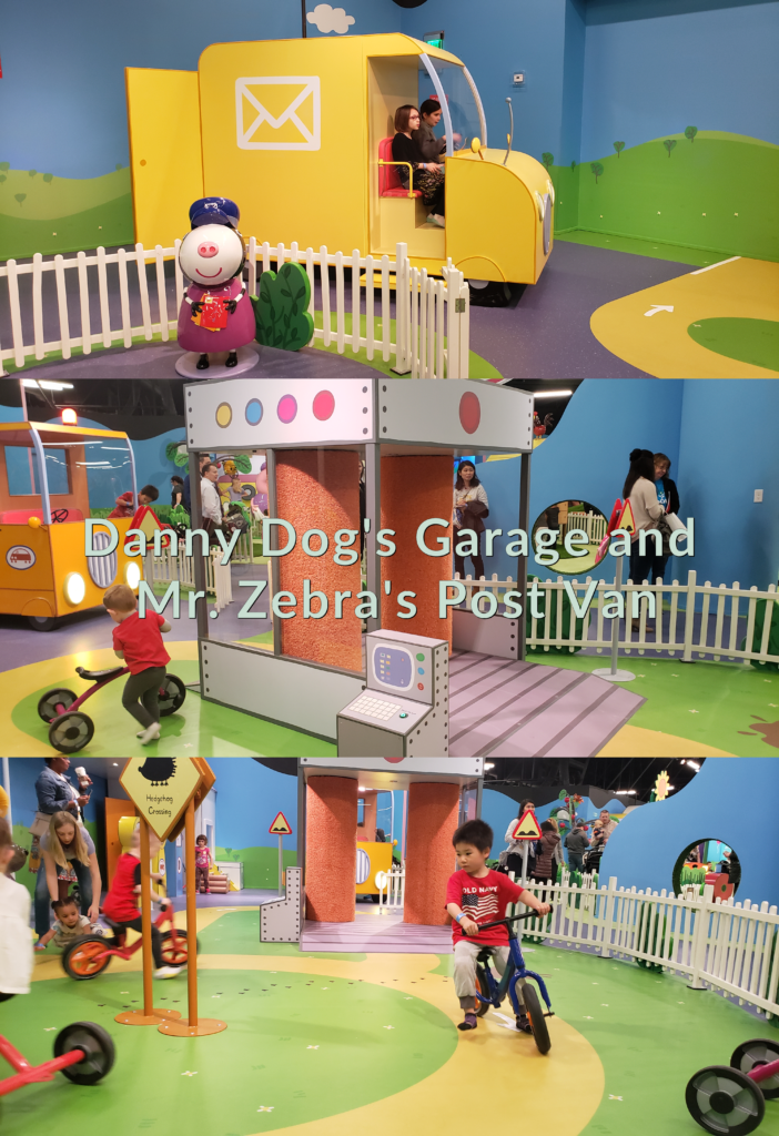 Peppa Pig World of Play Great Lakes Crossing Outlet Danny Dog's Garage and Mr. Zebra's Post Van