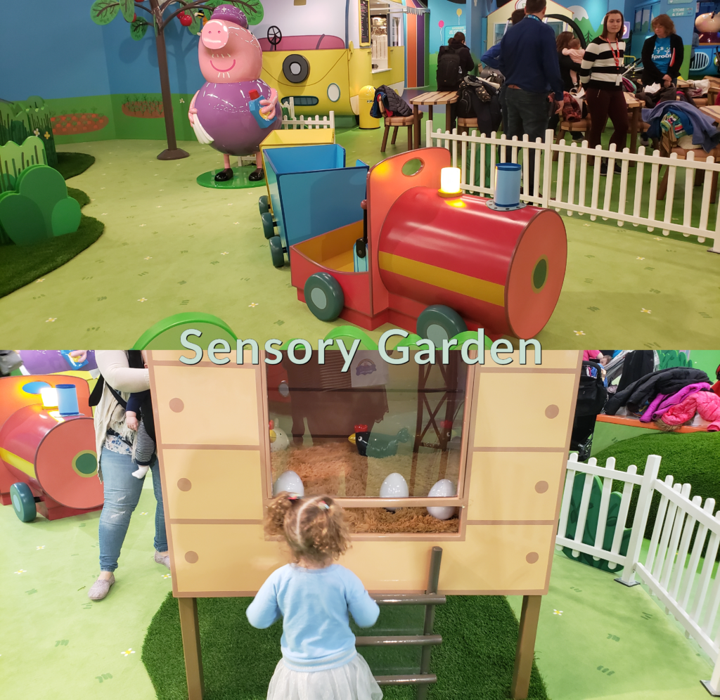 Peppa Pig World of Play Great Lakes Crossing Outlet Sensory Garden
