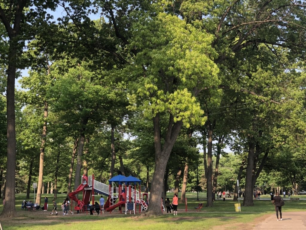 Red, White and Blue Playground in Levagood Park