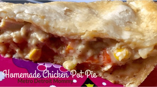 Delicious homemade chicken pot pie recipe
