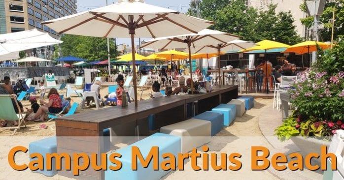 Campus Martius Beach – An Urban Summer Destination