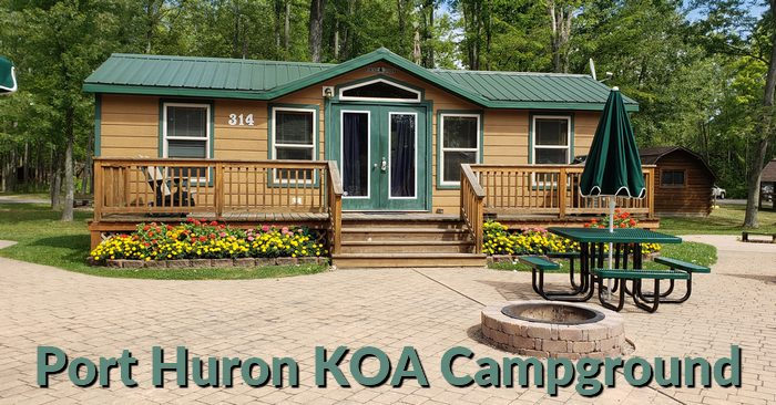 Deluxe Cabins at KOA in Port Huron