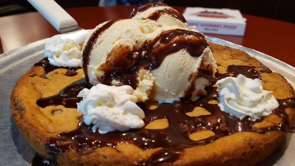 deep dish cookie and ice cream