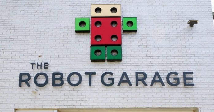 The Robot Garage in Birmingham outside view