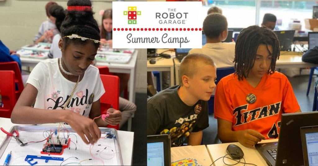 Stem Summer Camp classes at the Robot Garage.
