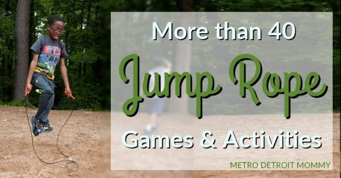 more than 40 jump rope games and activities