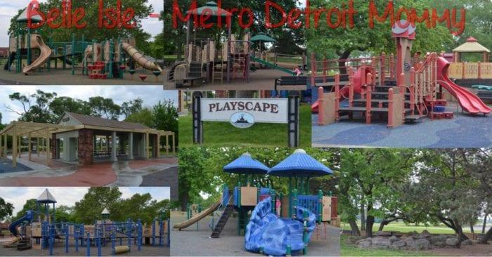Kids Row Playground on Belle Isle in Detroit