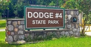 Dodge #4 State Park in Waterford Sign/Entrance