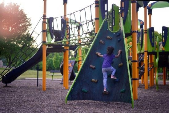 Rock Wall at the playground
