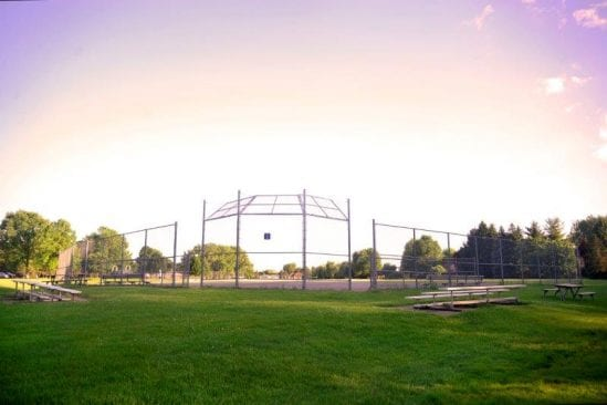 Baseball diamond at Jaycee Park in Troy