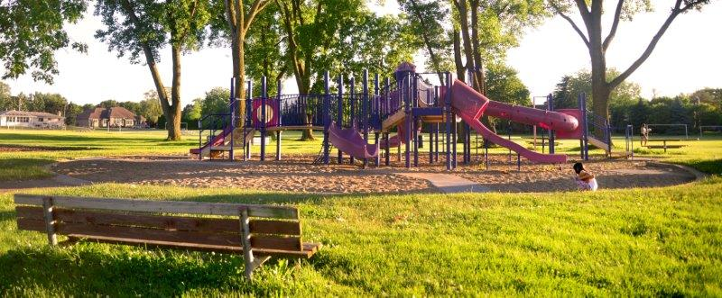 Play structure at Jaycee Park in troy.