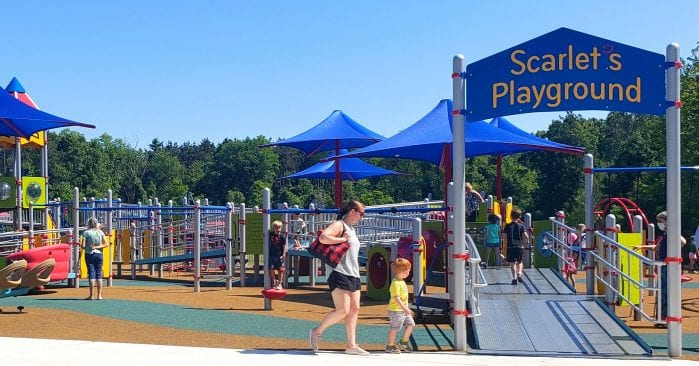 Scarlet's Playground at Dodge Park in Commerce Township