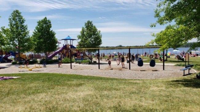 Swings at Stony Creek Metropark