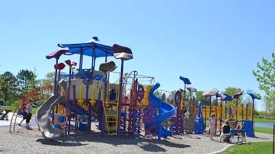 play structures at Stony Creek Eastwood Beach