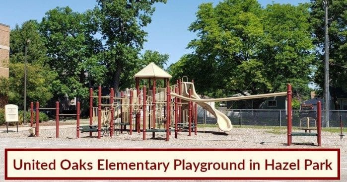United Oaks Elementary Playground in Hazel Park Visitor's Guide