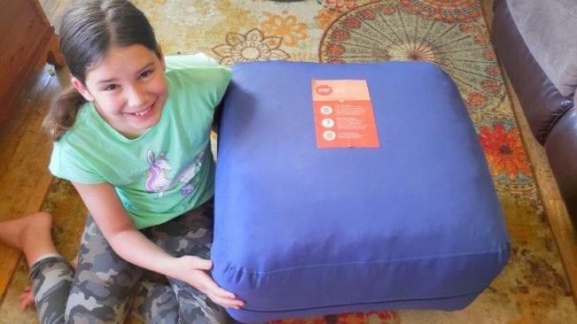 Compact packaging of the Jumbo Bean Bag