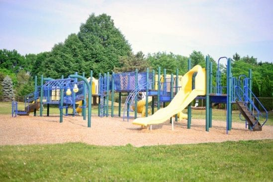 Schroeder Park in Troy play structure