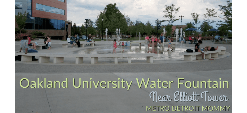 Elliott Tower Fountain At Oakland University Visitor's Guide and Photos