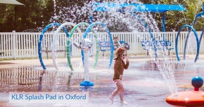 KLR Splash Pad in Oxford, Open for 2020 Summer Season