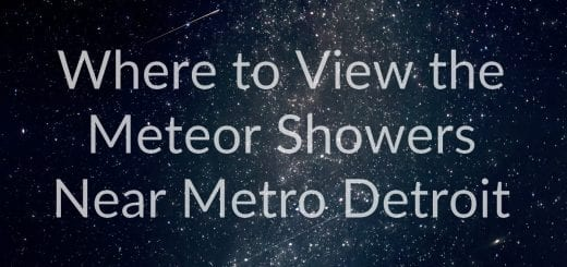 where to view the meteor showers near Metro Detroit