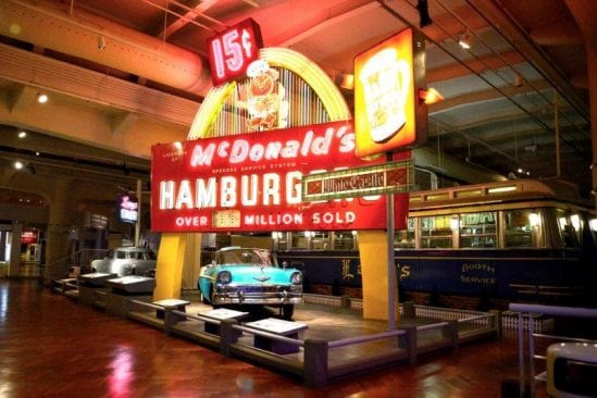 McDonalds Exhibit in Driving in America at The Henry Ford Museum.