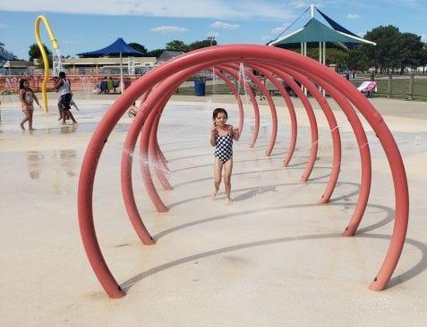 Lake St. Clair Metropark Squirt Zone Playground Splash Pad in Harrison Township