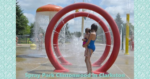 Clarkston Renee Przybylski Memorial Spray Park in Clintonwood Park