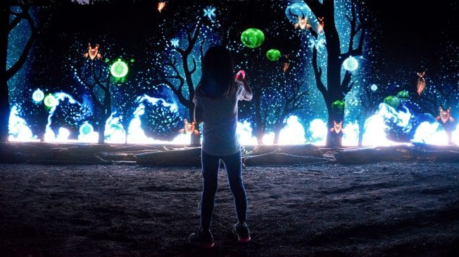Glenlore Trails Haunted Forest Light Show Adventure