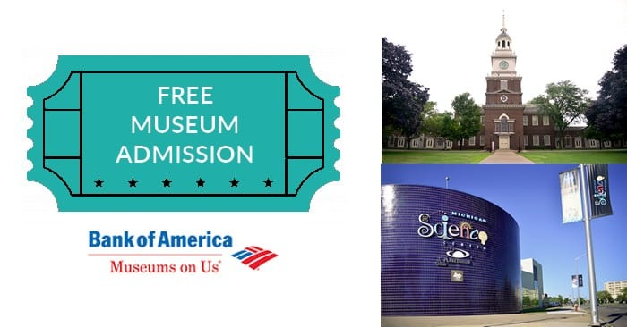 FREE Metro Detroit Museum Admission from Bank of America