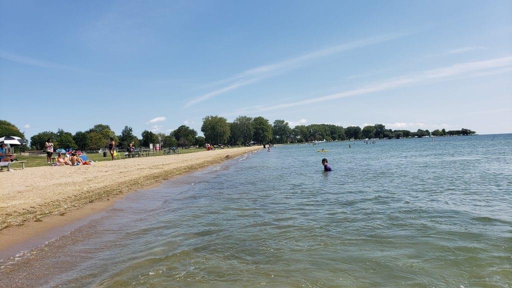Lake St. Clair's Metropark beach